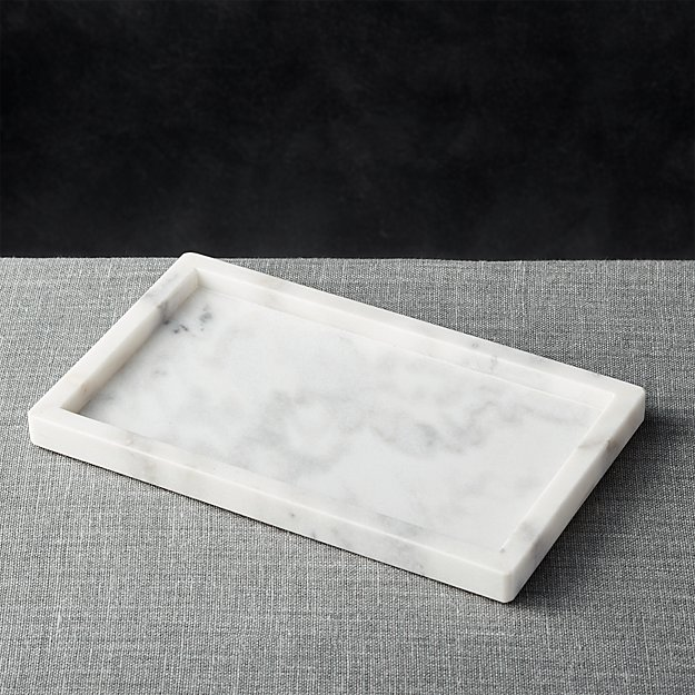 French Kitchen Marble Rectangle Tray Crate And Barrel