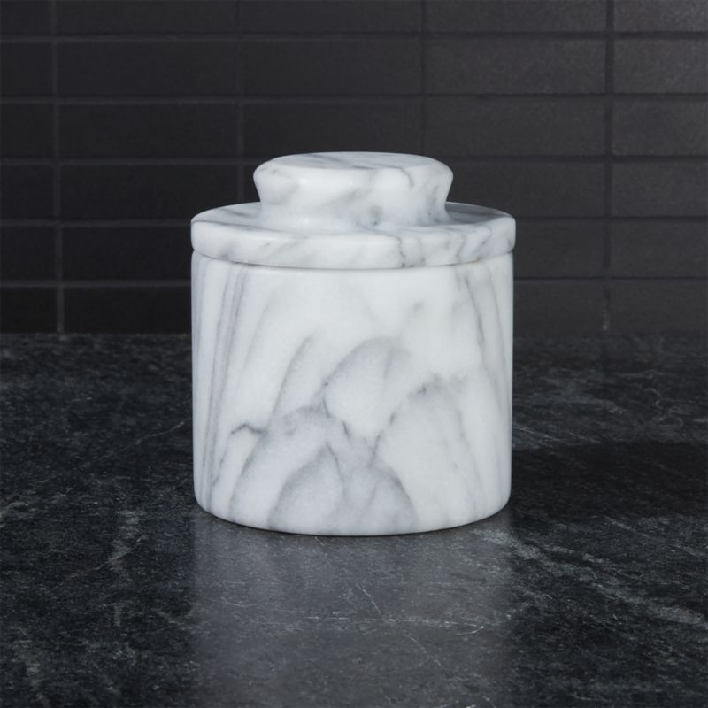 Marble Butter Crock : French kitchen marble butter keeper reviews crate and