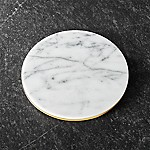 French Kitchen Marble/Gold Trivet
