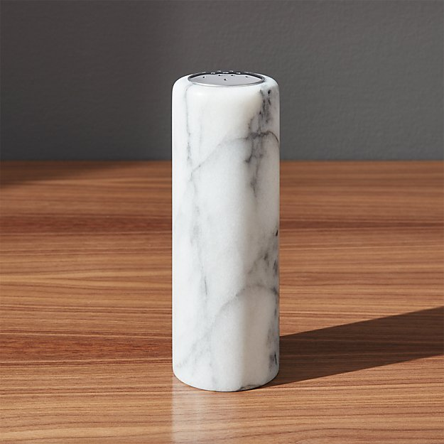 French Kitchen Marble Salt-Pepper Shaker - Image 1 of 12