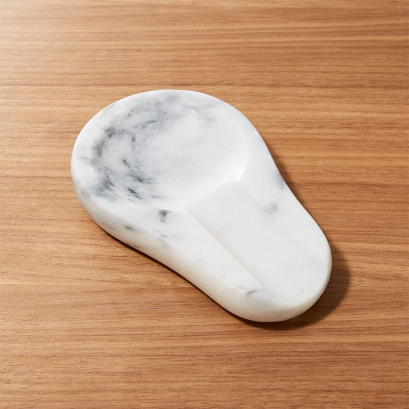 French Kitchen Marble Spoon Rest Reviews Crate And Barrel