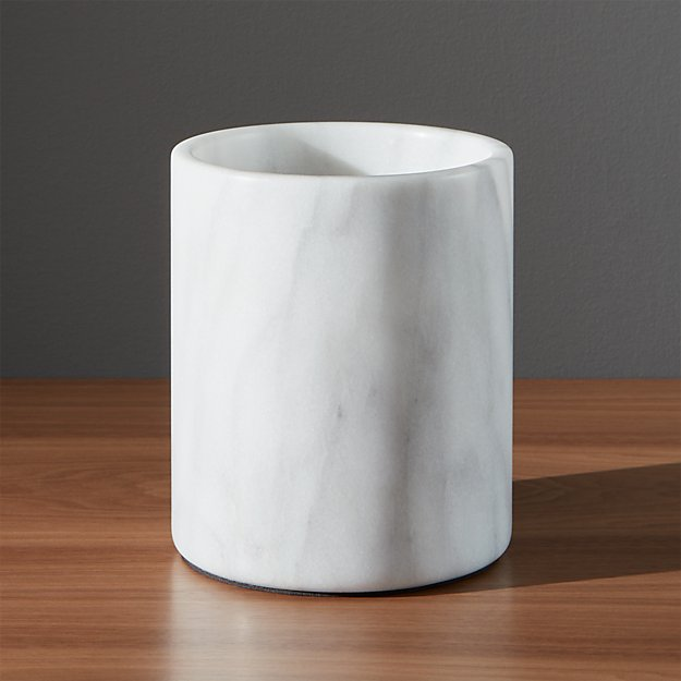 French Kitchen Marble Utensil Holder | Crate and Barrel