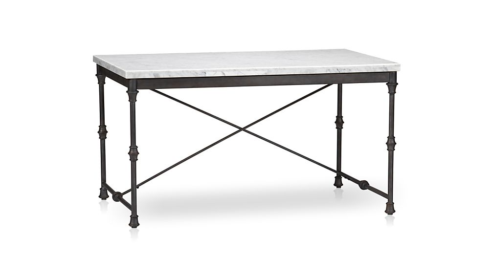 French Kitchen Table Reviews Crate And Barrel - Marble top farm table