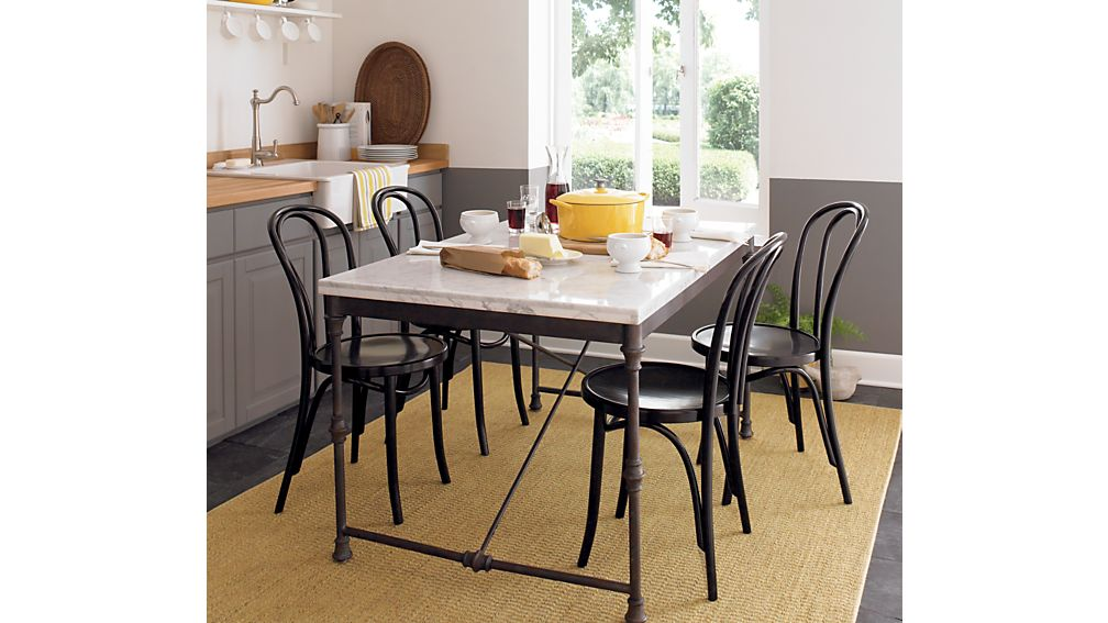 french kitchen table | crate and barrel