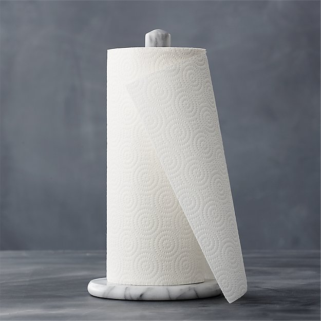 White Kitchen Roll Holder french kitchen marble paper towel holder | crate and barrel