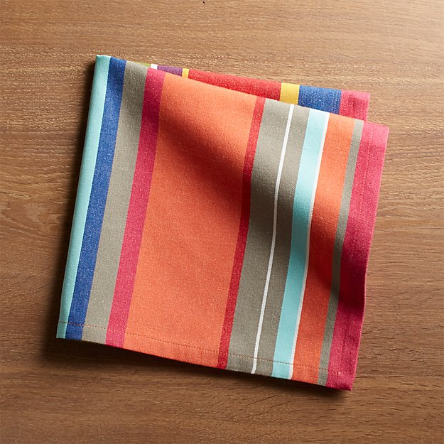 French Stripe Dinner Napkin Crate And Barrel