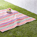 French Stripe 60  Square Picnic Blanket