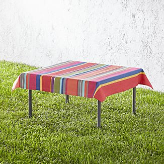 """French Stripe 36"""" Square Tablecloth"""