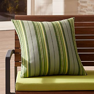 "Sunbrella ® French Striped 20"" Sq. Outdoor Pillow"