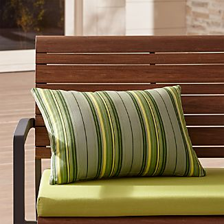 Sunbrella ® French Stripe Outdoor Lumbar Pillow