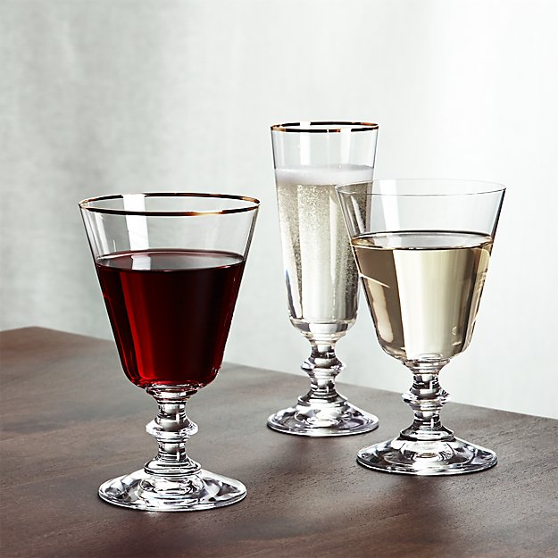 french wine glasses crate and barrel. Black Bedroom Furniture Sets. Home Design Ideas