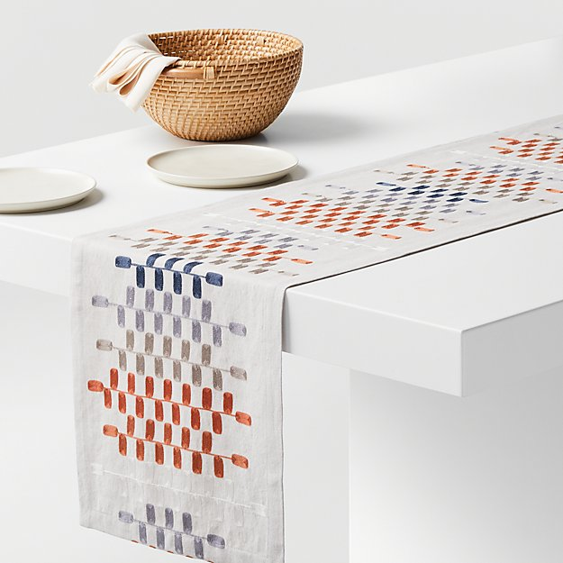 Frequency Embroidered Table Runner - Image 1 of 2