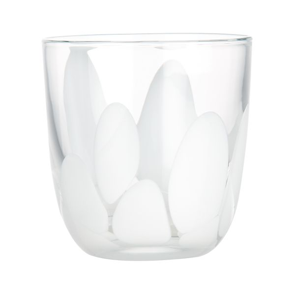 Frida White Double Old-Fashioned Glass