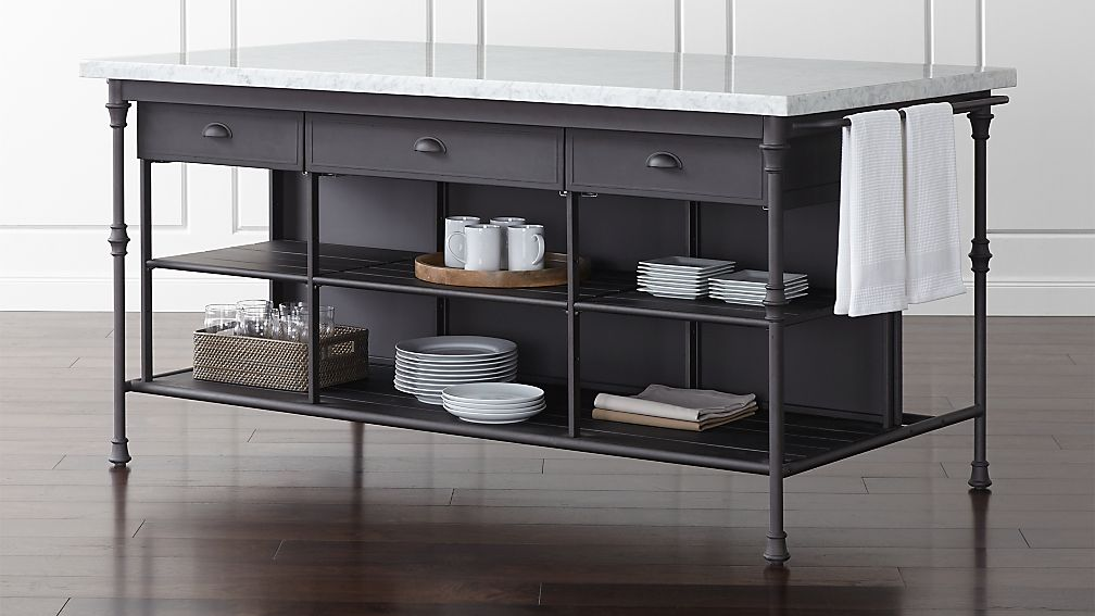 French Kitchen Large Kitchen Island Reviews Crate And Barrel - Kitchen island crate and barrel