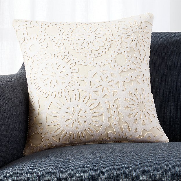 """Frost 18"""" Pillow with Feather-Down Insert"""