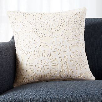 "Frost 18"" Pillow with Feather-Down Insert"