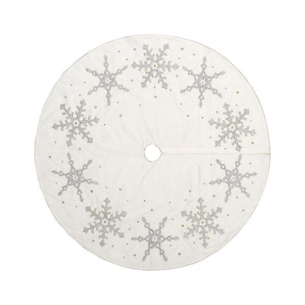 """Frosted 52"""" Tree Skirt"""