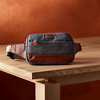 Frye Blue-Grey Canvas Belt Bag ™
