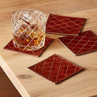 Frye Leather Coasters, Set of 4 ™