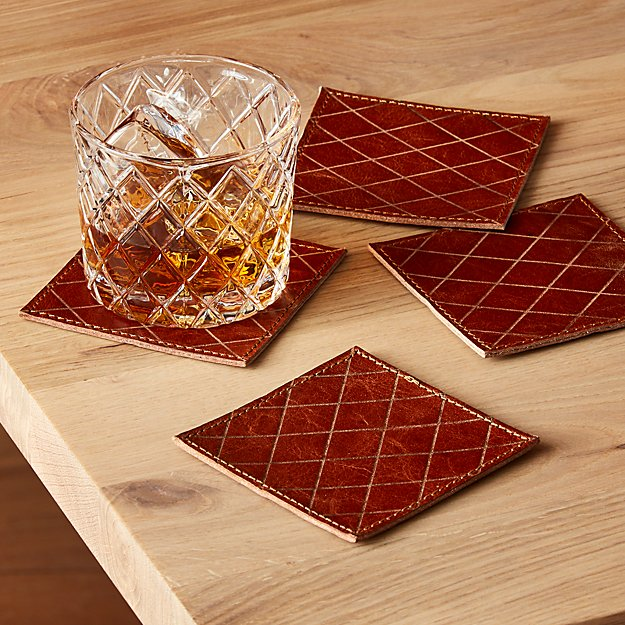 Frye Leather Coasters, Set of 4 ™ - Image 1 of 7