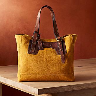 Frye Mustard Canvas Tote Bag ™