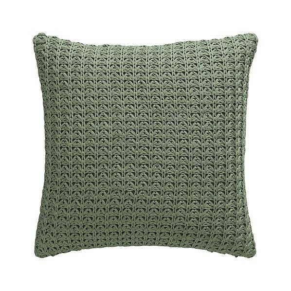 "Fujita Sage 18"" Pillow with Down-Alternative Insert"