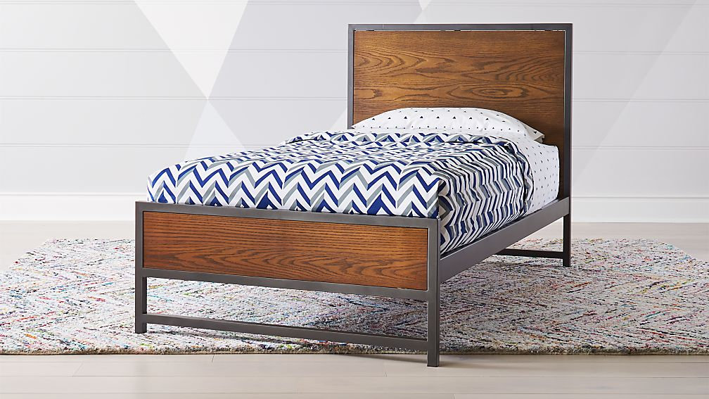 Fulton Street Brown Twin Bed - Image 1 of 5