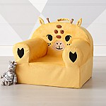 Large Furry Giraffe Nod Chair