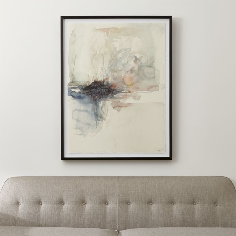 Watercolor Abstract Art Reviews Crate And Barrel