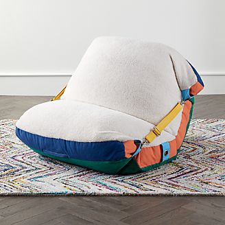 Fuzzy Adjustable Bean Bag Chair