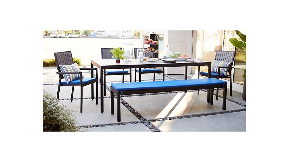 Alfresco II Grey Rectangular Dining Table in Dining Furniture + ...