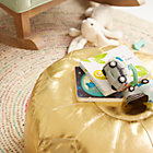 View product image Faux Leather Gold Pouf - image 9 of 11