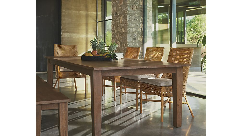 Basque Grey Wash Dining Tables Crate And Barrel