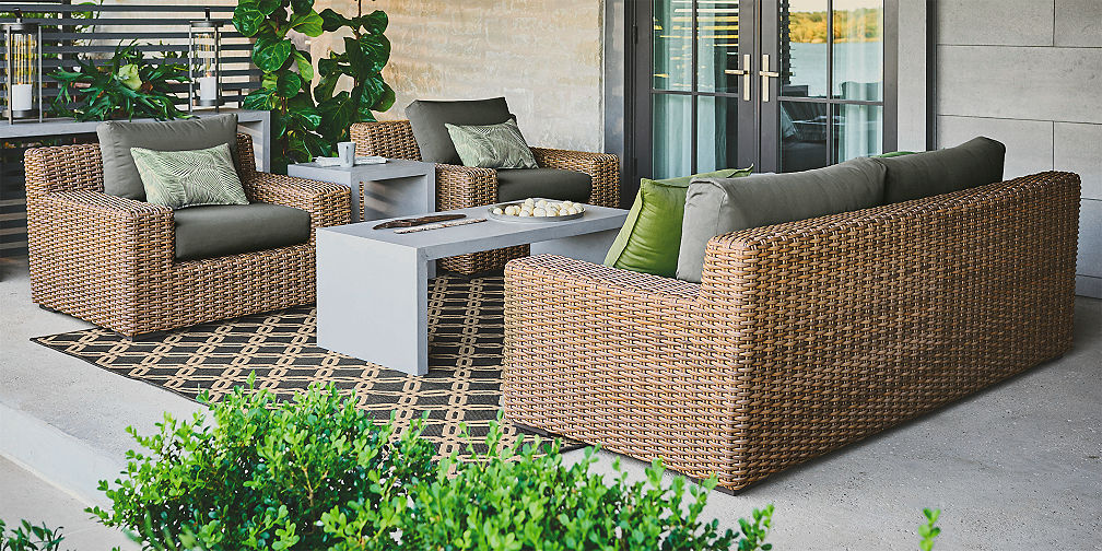 outdoor furniture crate and barrel. Cayman Lounge Collection Outdoor Furniture Crate And Barrel U