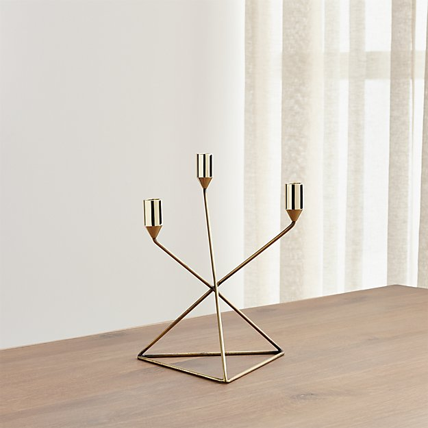 Gabriel Brass Taper Candle Holder Reviews Crate And Barrel