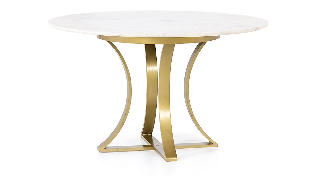 Damen 48 Quot White Marble Top Dining Table Reviews Crate