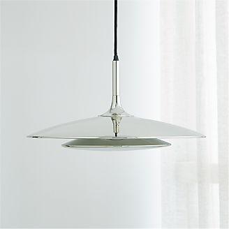 Pendant lighting and chandeliers crate and barrel gage nickel metal pendant lamp keyboard keysfo Gallery