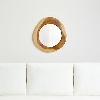 Galia Natural Wood Mirror