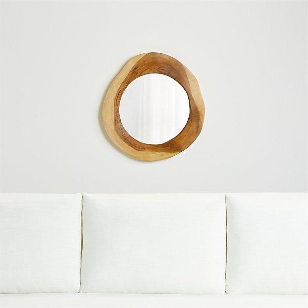 Galia Natural Wood Mirror - Image 1 of 3
