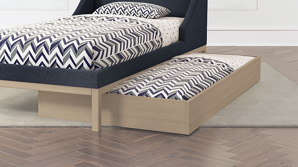 Trundle Bed.Gallery Wooden Trundle Bed Crate And Barrel