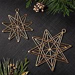 Gallet Layered Star Ornaments, Set of 2