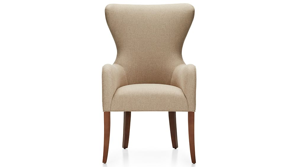 Galloway wingback dining chair crate and barrel for Wingback dining room chairs for sale