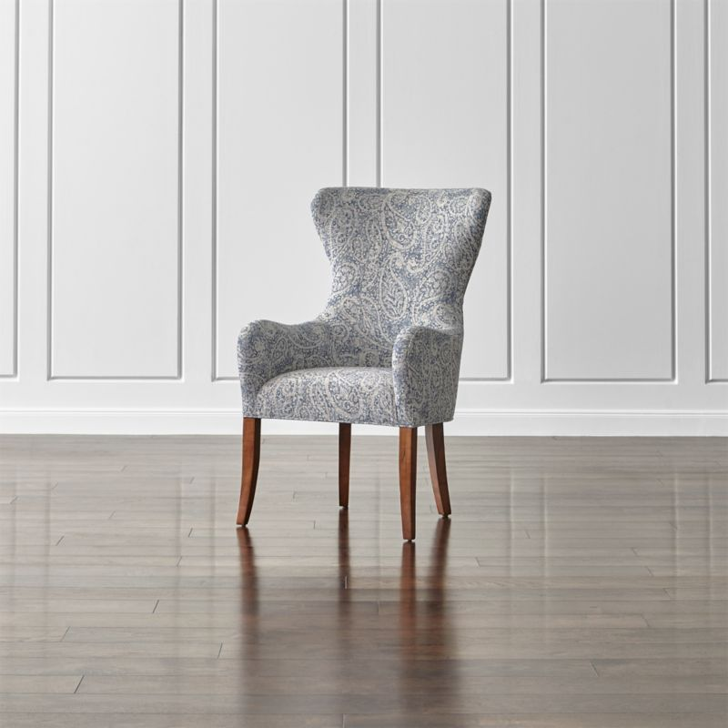 Galloway Paisley Wingback Dining Chair in Dining Chairs Reviews