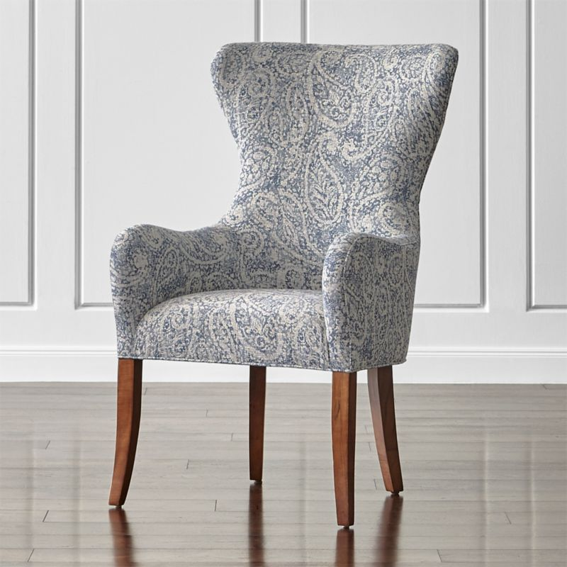 Galloway Paisley Wingback Dining Chair Reviews Crate