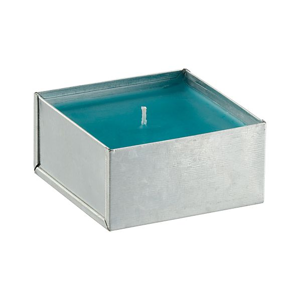 Galvanized Blue Citronella Pot