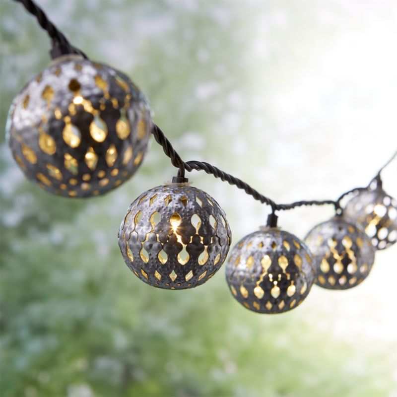 Outdoor lighting string lights and lanterns crate and barrel galvanized moroccan string lights 125 workwithnaturefo