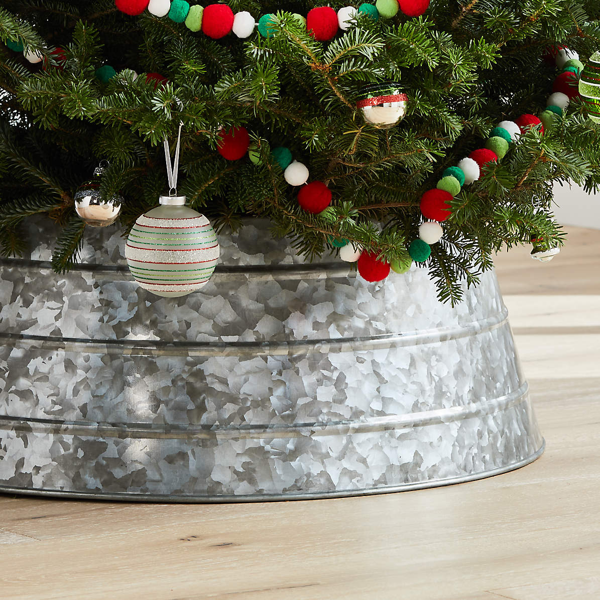 Galvanized Christmas Tree Collar Reviews Crate And Barrel