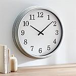 Galvanized 22  Wall Clock