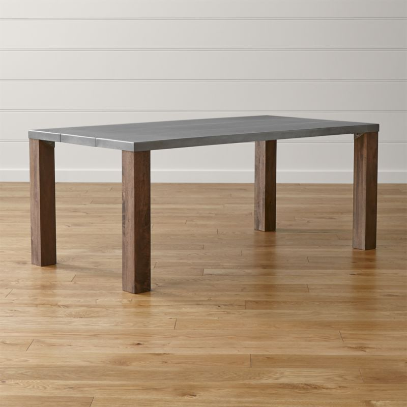 Galvin 72 Metal Top Dining Table Reviews Crate and Barrel