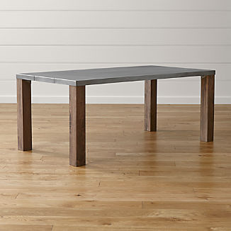Galvin 72 Metal Top Dining Table